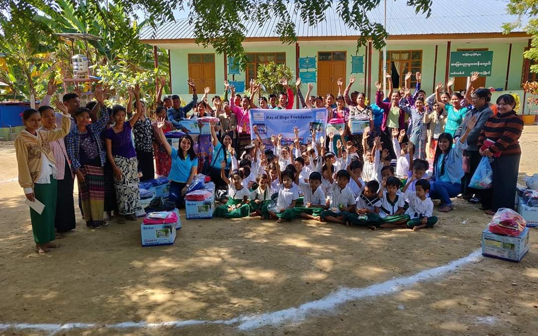 Ray Of Hope Foundation donated to No (11) primary school, letpadund Village December 19, 2019